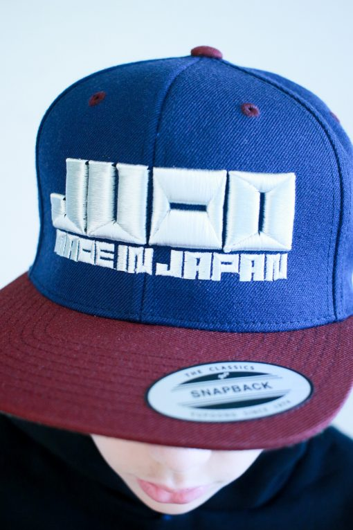 "Cap ""JUDO – MADE IN JAPAN"" in Blau – Silber"